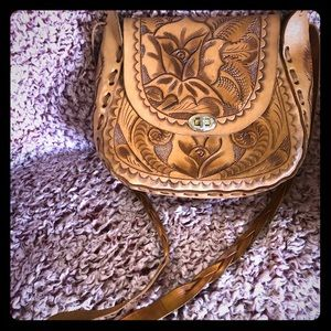 Beautiful Boho leather bag from Mexico